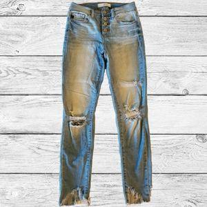 KanCan Estilo Distressed Skinny Jeans